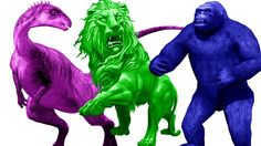 Learn Color Animals | Gorilla Rhymes |Dinosaurs Cartoons For Children | Lion Rhymes  Children Rhymes http://youtu.be/KJGstbA1hFI
