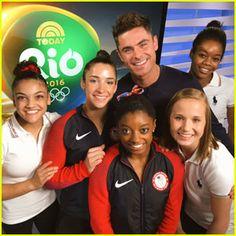 Simone Biles & Team USA Gymnasts Got to Meet Zac Efron in Rio ...