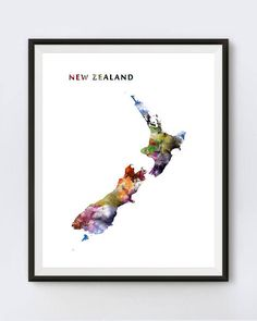 New Zealand Print Watercolor Map New Zealand Poster Travel #newzealand #map #modern #wallart #watercolor #ink #popular #kiwi #country #adventure #newzealandmap #wellington #mapprint #travel #urban #homedecor #nationalpark #landscape #officedecor #art #artforsale #artoftheday #newzealandposter #abstract #colorful #tramping #bestselling #outdoors #typography