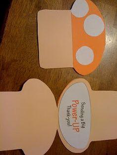 Craft-a-licous: Mario Kart Birthday Party Theme mushroom invitations