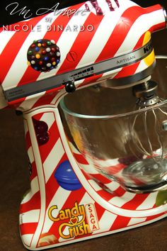 Candy Crush Saga Custom painted KitchenAid Mixer by © NICOLE DINARDO of UN AMORE