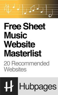 Free Sheet Music Website Masterlist (Piano, Guitar, Violin, Flute, Clarinet, Saxophone, Trumpet, Trombone, and More)