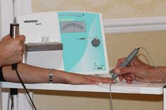 The test unit (above) measures the body's reactions to potential allergens. The test is totally painless and involves a probe which lightly touches a . Allergy Testing, Allergies, The Unit