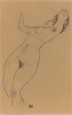 Egon Schiele, Reclining Nude, 1918