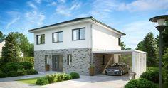 Massivhaus Kern-Haus Stadtvilla Centro Klinker Eingangsseite