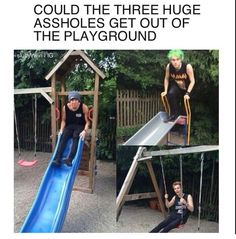 People don't even remember that line from when Ash and Luke went in the maccas playground....
