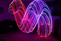 fun with a glowing hula hoop