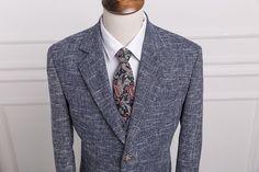 Wool gray Classic Tweed Custom Men Plaid suit Blazers Retro gentleman style tailor made slim fit wedding suits for men 3 Piece
