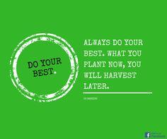 Die Belohnung kommt immer mit Verspätung. Was du heute säst wirst du später ernten.  #Spruch #Leben #Zitat  #Motivation