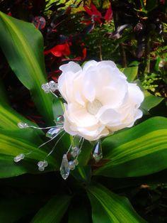 BRIDAL HAIR FLOWERSHawaiian Gardenia Peony Tropical by MalamaPua, $25.99