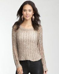 5. a top to wear for tea #bebe  #pinyourwaytotheuk     Open Weave Metallic Crop Sweater