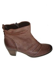 Take a look at this Mocca Leather Ankle Boot on zulily today!