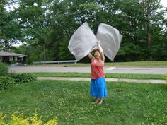 Purple/Blue/Silver Swing Flags - Poi Flags - Weighted Flags - Weighted Dancing Veils - Flow Fabric