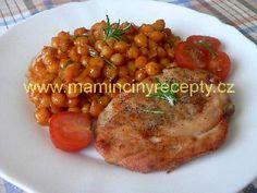 Kuřecí prsa rychlovka – Maminčiny recepty Chana Masala, Meat, Chicken, Ethnic Recipes, Food, Red Peppers, Essen, Meals, Yemek