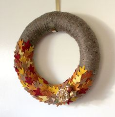 14inch Autumn Wreath Acorn Wreath Oak Leaf by TheBakersDaughter, $46.00