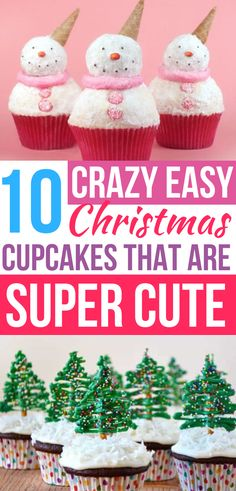 These EASY Christmas cupcakes are so CUTE! Now I have the BEST Christmas cupcake recipes to bring as a holiday dessert! #christmas #cupcakes #christmascupcakes #christmasdesserts #desserts