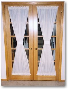 french door window covering - Google Search