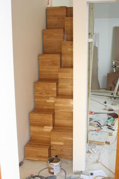 alternating space saver staircase