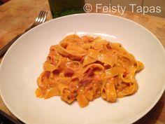 Creamy chorizo pasta, really easy and delicious Thermomix TM31 recipe / Pasta cremosa con chorizo, receta facilísima y riquísima con la Thermomix TM31