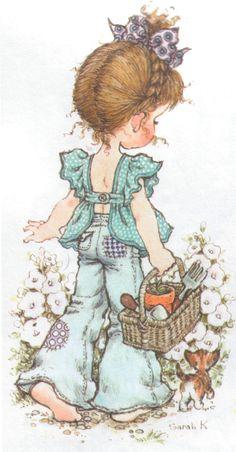 28 Ideas for basket illustration sarah kay Sarah Key, Holly Hobbie, Papier Kind, Australian Artists, Cute Illustration, Vintage Cards, Vintage Children, Cute Drawings, Cute Art