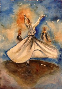 To Love is human. To feel Pain is human. Yet to still Love despite the Pain is pure Angel. Mystic Symbols, Whirling Dervish, Islamic Paintings, Arabic Calligraphy Art, Turkish Art, Watercolor Artwork, Pictures To Paint, Street Art, Urdu Quotes