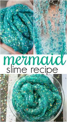 Check out here these 20 amazing DIY slime recipes that are easy to make and will definitely make a great fun toy for the fun-loving kids. DIY Edible Sludge Sensory Play Slime A fun and edible avata… Slime 20 amazing DIY slime recipes Vídeos Slime, Edible Slime, Slime Craft, Diy Slime, Sparkly Slime, Glitter Slime, Glitter Confetti, Mermaid Slime, Mermaid Diy