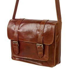 Buy Fat Face Claire Leather Satchel Bag, Tan Online at johnlewis.com