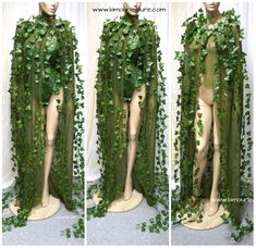 Poison Ivy Cape Costume Rave Bra Rave Wear Cosplay Halloween #Costumes
