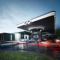 """Концепт абсолютно новой для украинского рынка автозаправочной станции """"GO"""", созданной на базе передовых технологий и понимания будущего"""