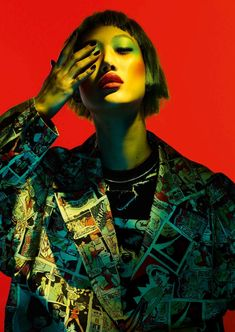 Play It Loud Publication: Vogue Germany March 2018 Model: Sora Choi Photographer: Ben Hassett Fashion Editor: Nicola Knels Hair: Joey George Make Up: Marla Belt Fashion Editor, Editorial Fashion, Fashion Shoot, Beauty Photography, Fashion Photography, Neon Photography, Shadow Photography, Sora Choi, Wattpad