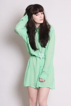 This mint dress is so wearable, and can easily be carried through to winter with a pair of tights.