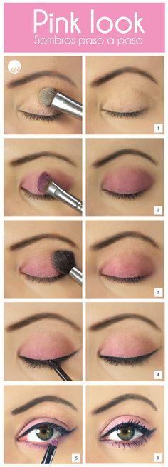 Prueba este look en sombras rosas