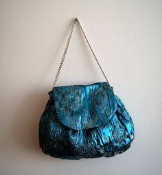 Purse light blue by knittingcate on Etsy, $48.00