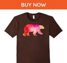Mens polar bear Watercolor Painting T-Shirt Large Brown - Animal shirts (*Amazon Partner-Link)