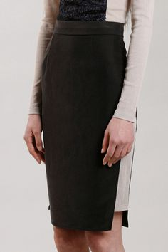 Windowpane Skirt. via The Cools