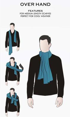 Fashion in Infographics — 7 ways to tie a scarf