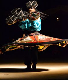 Egyptian male dancer during a Bedouin evening in Marsa Alam.