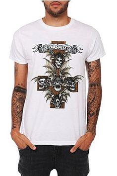 want this t! !  looks just like my guns n roses appetite for destruction. Frikkin sweet.Avenged Sevenfold
