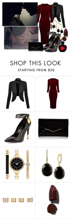 """Red Lust"" by nicolepuppy ❤ liked on Polyvore featuring WithChic, Tom Ford, Furla, Style & Co., Effy Jewelry, Maison Margiela, Lipstick Queen and Christian Dior"