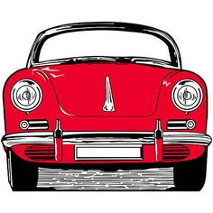 50's Sports Car Standee