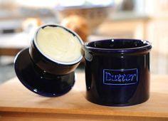 Cobalt Blue Cafe Collection Butter Bell Crock by L. Butter Mochi, Butter Icing, Butter Recipe, Cookie Butter, Butter Bell, Butter Pasta, Butter Shrimp, Butter Brickle, Butter Pecan