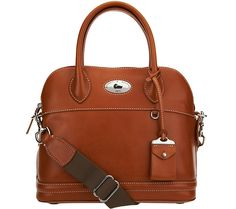 Make quality your priority with this Dooney & Bourke domed satchel. Page 1 QVC.com