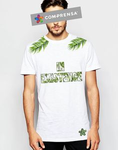 """T-Shirt from Com-Prensa """"Jungle"""", with pops of vibrant tropical colour, features a ribbed crew neck, short sleeves, a straight hem and a relaxed fit. #barcelos #colours#tshirt #cotton #pottery #comprensa #fashion #model #fashion #manufacturer #design #company #textile #portugal #sublimation #screenprinting #digitalprint #laser #photoprint"""