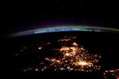 UK: The United Kingdom under an aurora Photograph: Tim Peake/ISS/Nasa/Esa