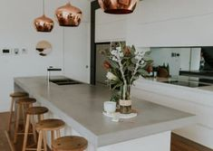 Studio Black is a boutique residential interior design and styling practice that specialises in modern and contemporary design. Eclectic Kitchen, Stylish Kitchen, Modern Farmhouse Kitchens, Rustic Kitchen, Vintage Kitchen, Home Kitchens, Faux Brick Walls, White Brick Walls, White Furniture