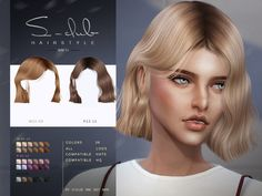 Sims New, The Sims 4 Pc, Sims Four, Sims 4 Cas, Club Hairstyles, Female Hairstyles, Mod Hair, Sims 4 Black Hair, The Sims 4 Cabelos