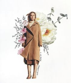 Muse No. 7 flower collage by kate rabbit