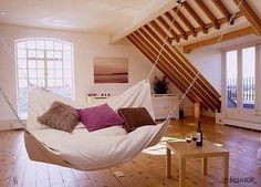 Indoor Big Hammack Home Design, Home Interior Design, Design Ideas, Attic Design, Diy Design, Design Hotel, Interior Designing, Modern Interior, Modern Design