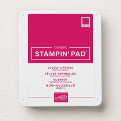 Stamp up a storm with this intense ink pad to add color and fun to any craft project you have. The easy-to-store body makes for great organization. Stamp Up, Mini Albums, One Sheet Wonder, Cherry Cobbler, Pad Design, Fun Fold Cards, Cards Diy, Folded Cards, Glue Dots