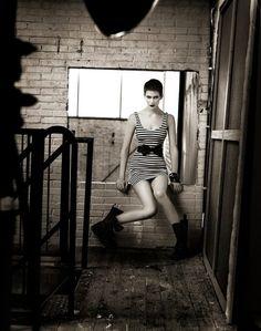 B&W warehouse shoot - Cycle 11 (Marjorie Conrad)